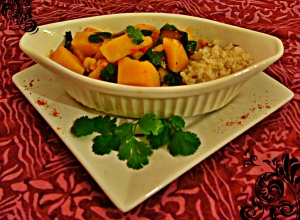 Vegetarian Butternut and Chickpea Curry with Cilantro