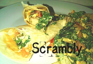 Meatfree Monday: Veggie Scramble Wrap. Healthy Eating