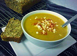 MeatFree Curried Butternut Soup. Low fat soup