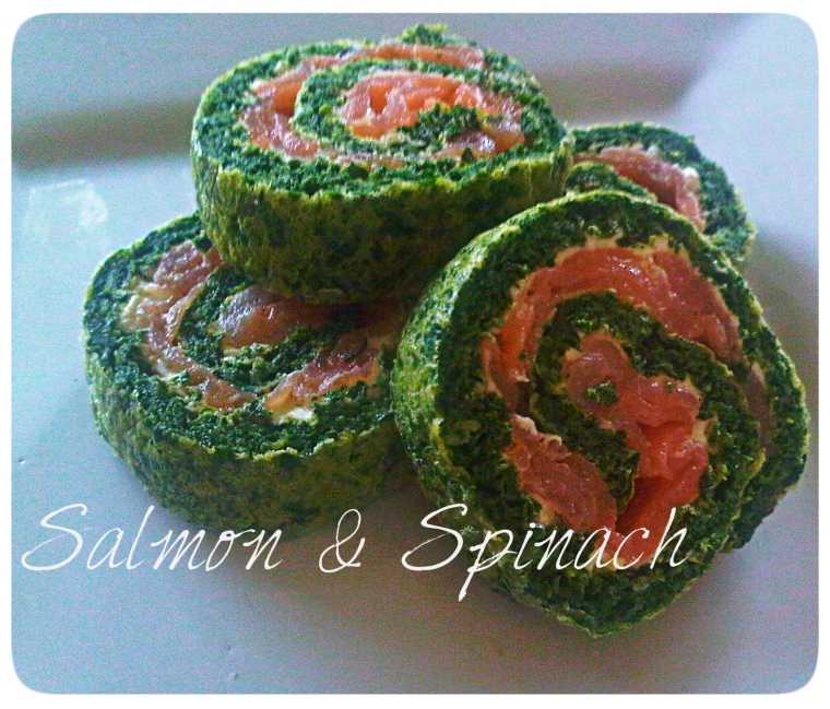 Salmon and Spinach Roll - easy and elegant cocktail party snack