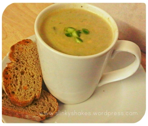 Low Carb Leek and Cauliflower Soup - instead of potato