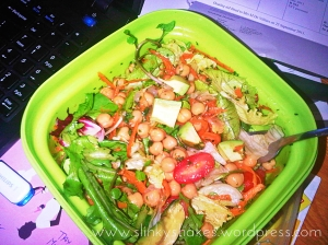 Healthy Weekday Lunch: Chickpea and Avocado Salad with Chilli Mint Dressing