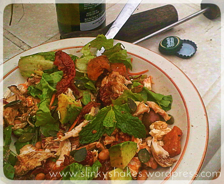 Healthy BBQ Leftover Salad